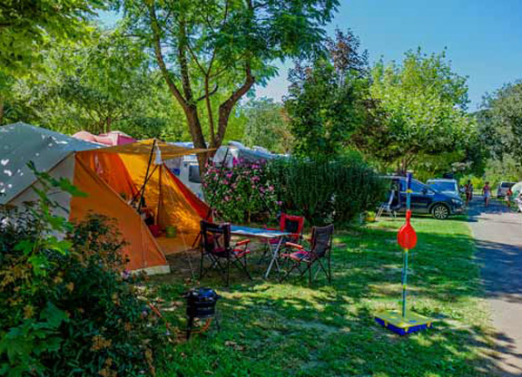 camping pitch in Occitania